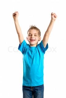 child handsup